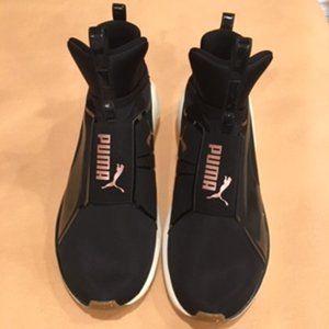 PUMA Women's Fierce Knit Training Shoes: Black 9
